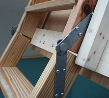 ... Detail Of Hinge Area Of Bottom Section Of Attic Stairs