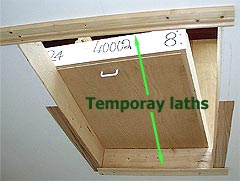 Lower Attic Stairs Onto Temporary Laths