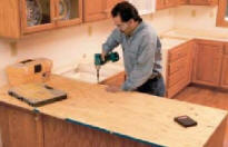 Install Plywood For Solid Surface Countertop Support