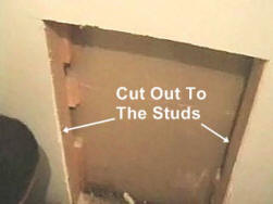 Cut Out The Damaged Drywall Area