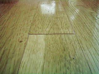 after putty applied to wood floor