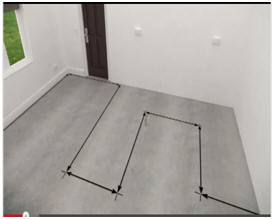 draw a plan on the floor before installing radiant heating wires