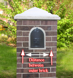 installed mailbox in brick column - Brick Mailbox Designs