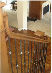Replace Wooden Baluster With Iron Balusters